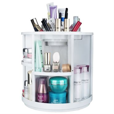 Image of   Monoko® 360º Rotating Makeup Organizer XL, Hvid
