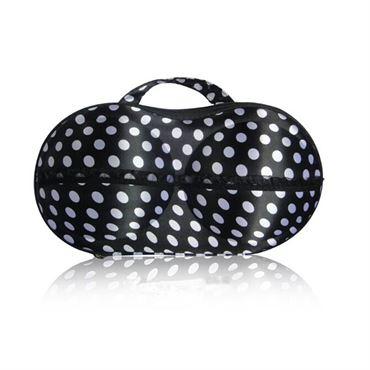 BH taske til opbevaring - Sort med hvide dots