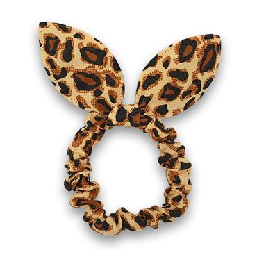 N/A Scrunchie med sløjfe - leopard fra fashiongirl
