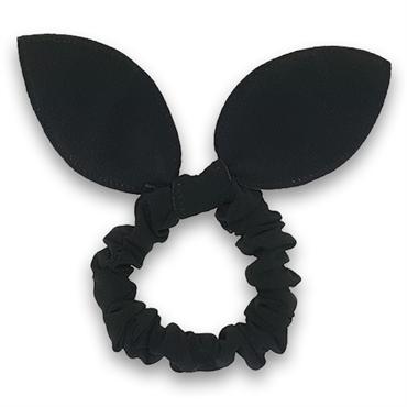 N/A – Scrunchie med sløjfe - sorte fra fashiongirl