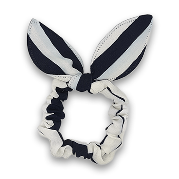 N/A – Scrunchie med sløjfe - sailor stripes fra fashiongirl