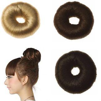 7 cm hår donut M/ kunstigt hår fl. farver thumbnail