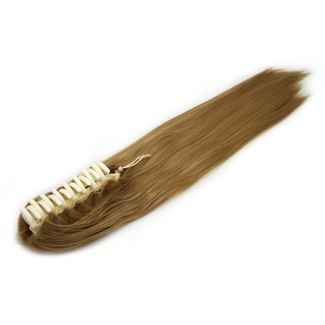 Ponytail hestehale med hårklemme, glat - mellem blond #27 fra N/A fra fashiongirl