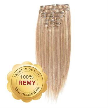 N/A – Clip on extensions - 40 cm #18/613 blond mix på fashiongirl