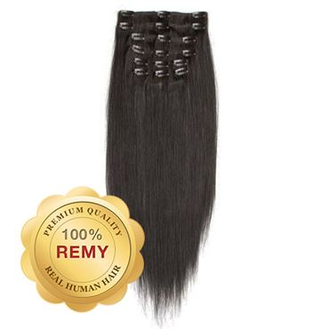 Clip On Extensions -  40 cm #1B Naturlig sort