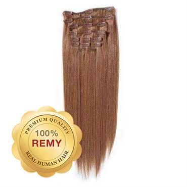 N/A Clip on extensions - 40 cm #30 rødbrun på fashiongirl