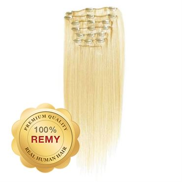 N/A – Clip on extensions - 40 cm #613 blond fra fashiongirl