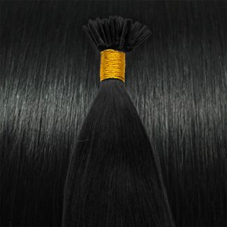 Image of   50 cm Cold Fusion hair extensions Sort 1#