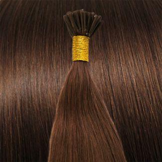 N/A 50 cm cold fusion hair extensions rød brun 30# på fashiongirl