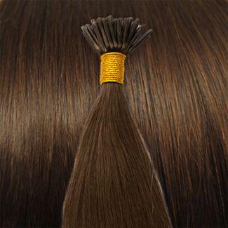 50 cm Cold Fusion hair extensions brun 4# thumbnail