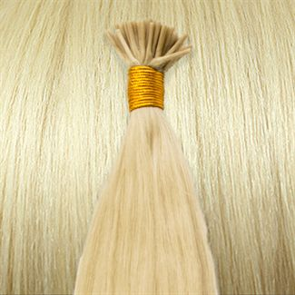 Image of 50 cm Cold Fusion hair extensions Platin blond 60#