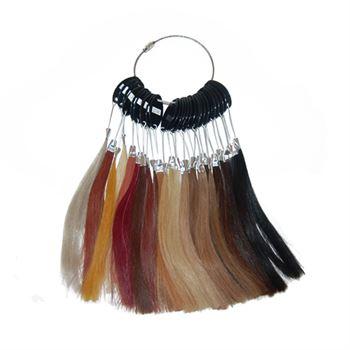 N/A – Farvering / colorring m. farveprøver til hair extensions fra fashiongirl