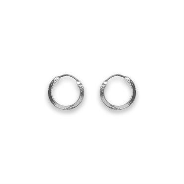 Sølv creoler 15 mm fra N/A fra fashiongirl