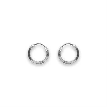 Sølv Creoler 15 mm