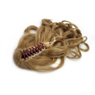 Ponytail hestehale med hårklemme, curly - mellem blond #27 fra N/A fra fashiongirl
