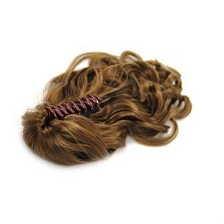 N/A Ponytail hestehale med hårklemme, curly  - lyse brun #6 fra fashiongirl