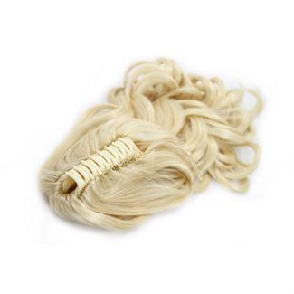 N/A – Ponytail hestehale med hårklemme, curly - blond #613 på fashiongirl