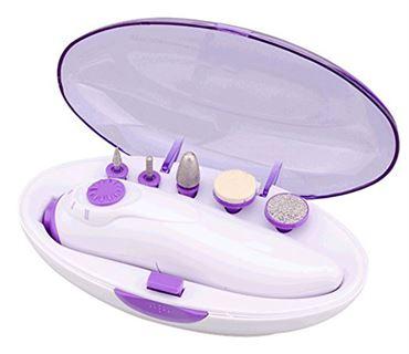 Elektrisk Neglefil - Komplet manicuresæt / pedicure sæt