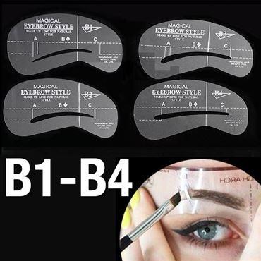 N/A – øjenbryns skabeloner - eyebrow stencils (b1-b4) - 4 stk. på fashiongirl