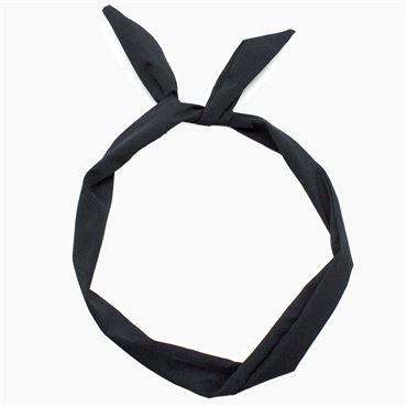N/A – Flexi hårbånd med ståltråd - sort på fashiongirl