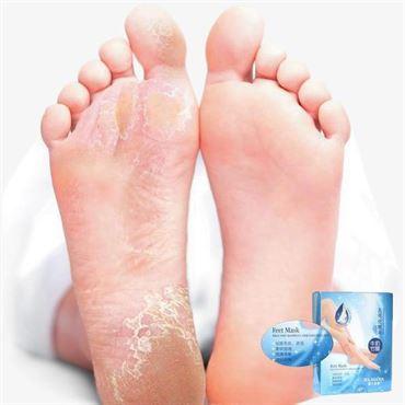 Fodmaske - fugt givende sokker til tør og hård hud