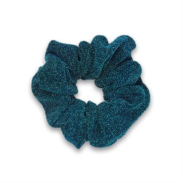 Glitter scrunchie - turkis fra N/A på fashiongirl