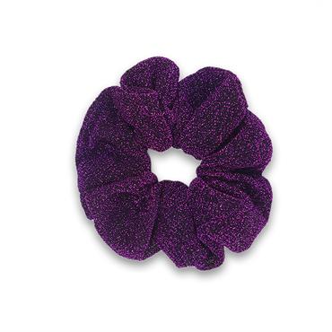 Glitter scrunchie - lilla fra N/A på fashiongirl