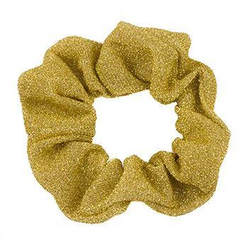 N/A Glimmer & glitter scrunchie - guld på fashiongirl
