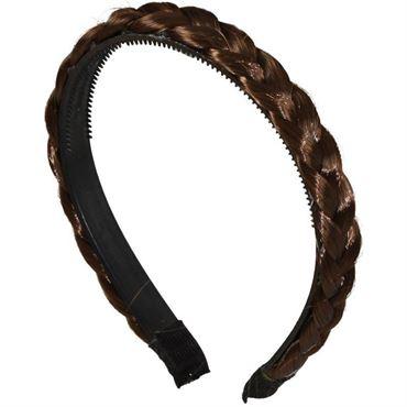 N/A Flettet hårbøjle - brun fra fashiongirl