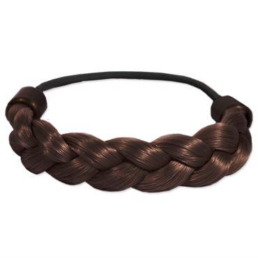Image of   Hårelastik med flettet kunsthår: brun