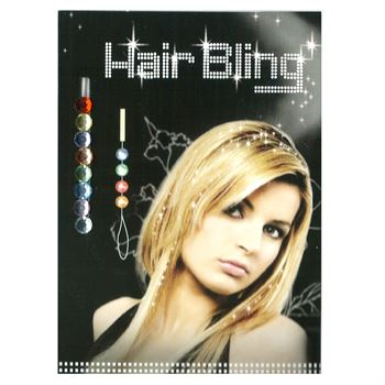 Image of   Hair Bling - 8 farvede krystaldiamanter