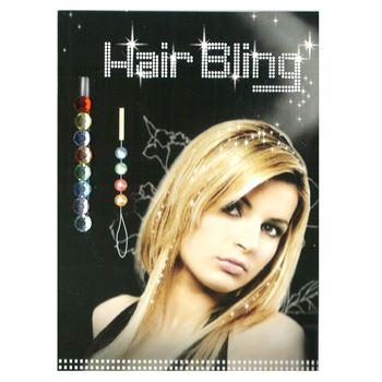 N/A – Hair bling - 8 farvede  krystaldiamanter fra fashiongirl