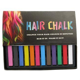 N/A – Hair chalk® pakke m/ 12 stk  flotte hårkridt fra fashiongirl