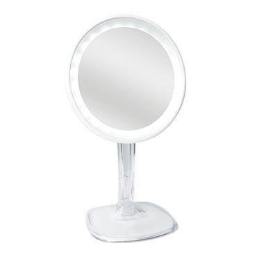 Halo genopladelig led spejl med 10x forstørrelse - hvid fra N/A fra fashiongirl