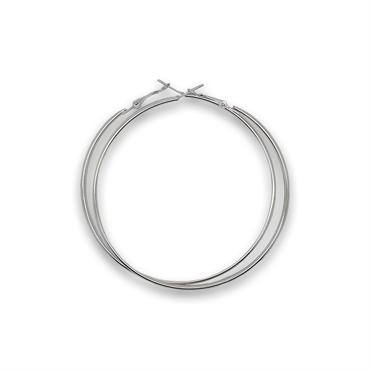 N/A Sølv creoler mega size 80 mm fra fashiongirl