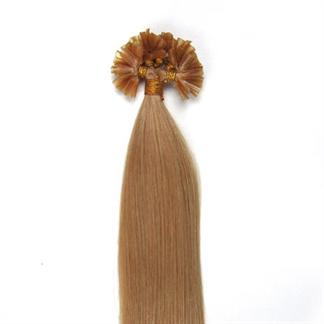 50 cm hot fusion hair extensions 27# mellemblond fra N/A fra fashiongirl