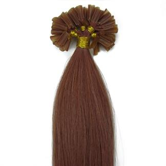50 cm hot fusion hair extensions 30# rødbrun fra N/A på fashiongirl