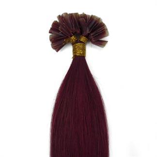 60 cm Hot Fusion Hair extensions 33# rød thumbnail