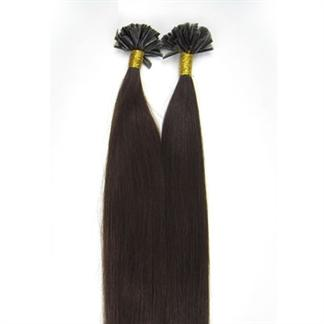 Image of   50 cm Hot Fusion Hair extensions 2# Mørkebrun
