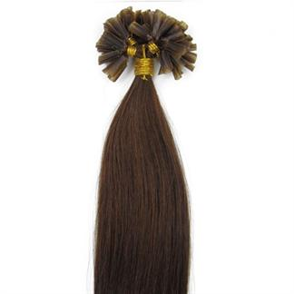 50 cm Hot Fusion Hair extensions 4# Brun thumbnail