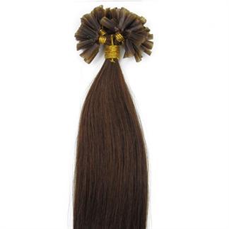 50 cm Hot Fusion Hair extensions 4# Brun thumbnail