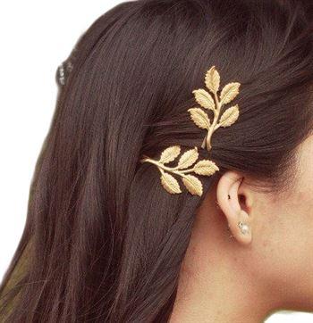 Gold leaf hårnåle fra N/A fra fashiongirl