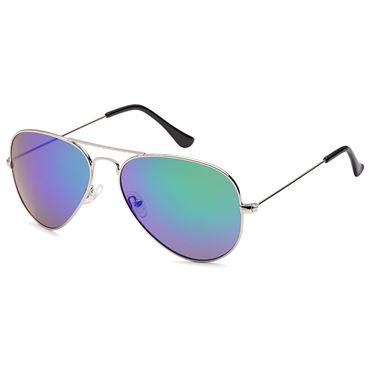 Lux® Aviator Oil Pilot Solbriller - Spejlglas med farvespil