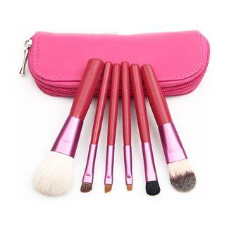 N/A – Makeup børster - 6 dele i rød på fashiongirl