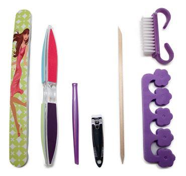 Manicure & pedicure sæt - 7 dele fra N/A fra fashiongirl
