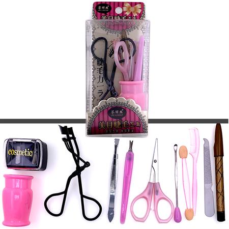 Image of   Beauty 10 sæt | Øjenvippebukker, Dual sharpener, Eyeliner, neglesaks, negleværktøj etc.