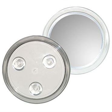 N/A – Uniq makeup spejl 10x forstørrelse med sugekop - hvid på fashiongirl