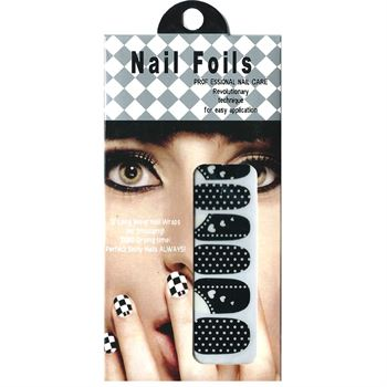 N/A Nail stickers - negle wraps 12 stk no. 01 fra fashiongirl