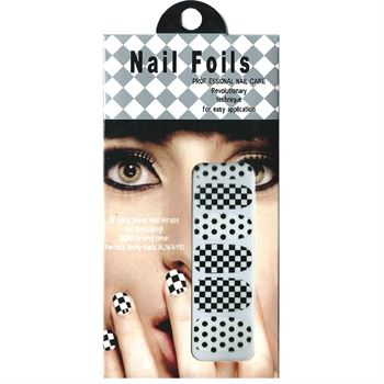 Nail stickers - nail wrap 12 stk no. 02 fra N/A på fashiongirl