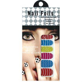 Nail stickers - nail wrap 12 stk no. 10 fra N/A fra fashiongirl